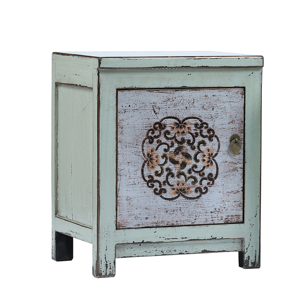 chinese bedside cabinet dongbei style light blue rouge