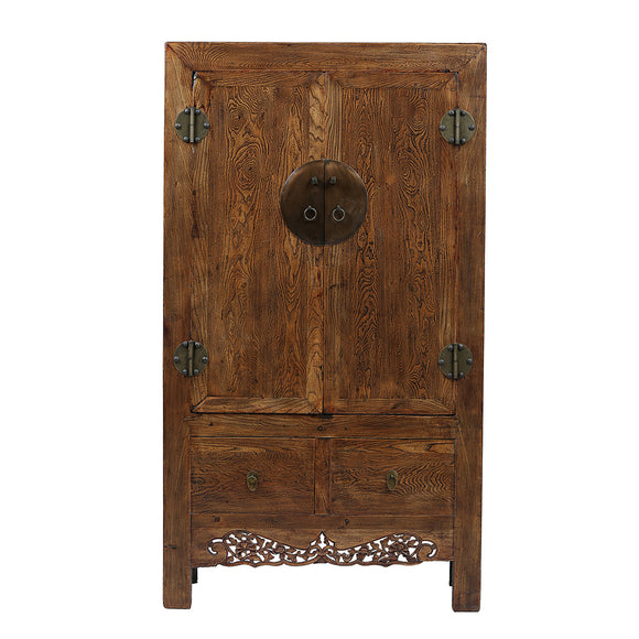 Rustic Vintage Chinese Elm Wardrobe from Shanxi Province - Chinese homewares- Rouge Shop antique stores London - city furniture