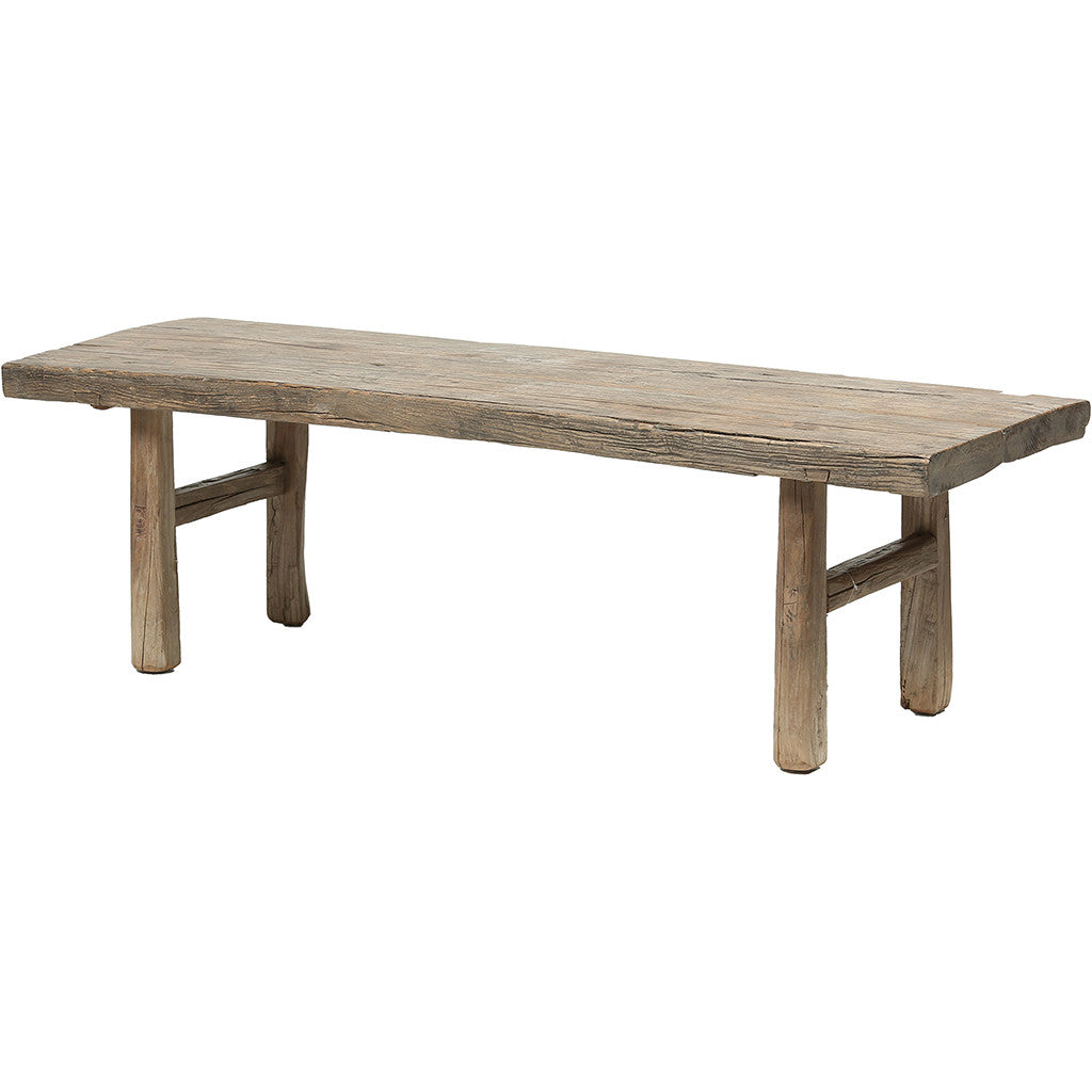 ... Rustic Contemporary Chinese Elm Wood Bench   Chinese Homewares  Rouge  Shop Antique Stores London ...