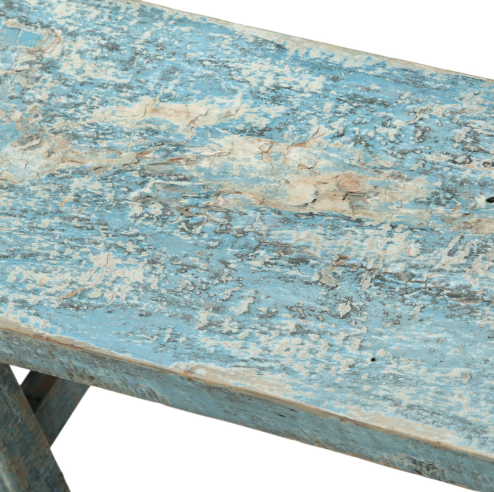 Contemporary Chinese Blue Wooden Bench - Chinese homewares- Rouge Shop antique stores London - city furniture