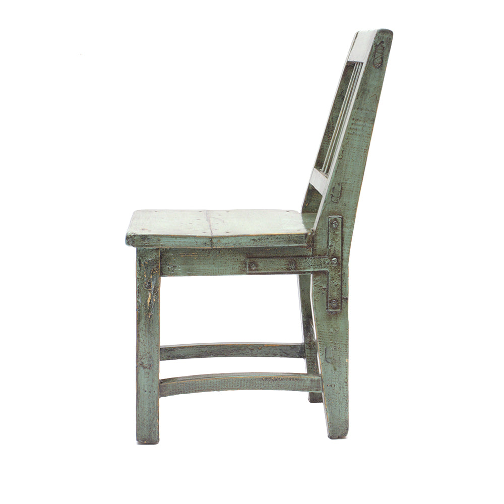Green Vintage Chinese Child's Chair - Chinese homewares- Rouge Shop antique stores London - city furniture
