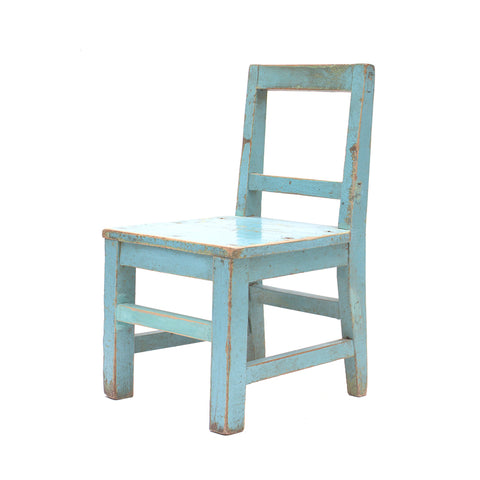 Light Blue Vintage Chinese Child's Chair - Chinese homewares- Rouge Shop antique stores London - city furniture