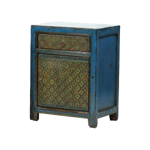 Small Blue and Green Xinjiang Cabinet - Asian Inspired Furniture Accessories Cermaics - Rouge Shop
