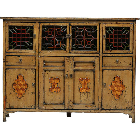 Vintage Chinese Fretwork Kitchen Cupboard - Dongbei - Asian Inspired Furniture Accessories Cermaics - Rouge Shop