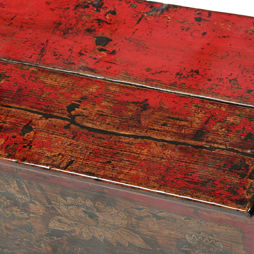 Low Vintage Mongolian Sideboard - Asian Inspired Furniture Accessories Cermaics - Rouge Shop