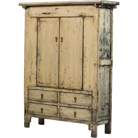 Cream-Grey Vintage Chinese Cabinet from Shanxi - Chinese homewares- Rouge Shop antique stores London - city furniture