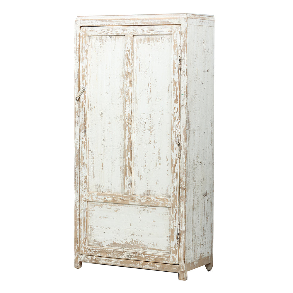 White Chinese Camphor Wood Cabinet Shandong Style