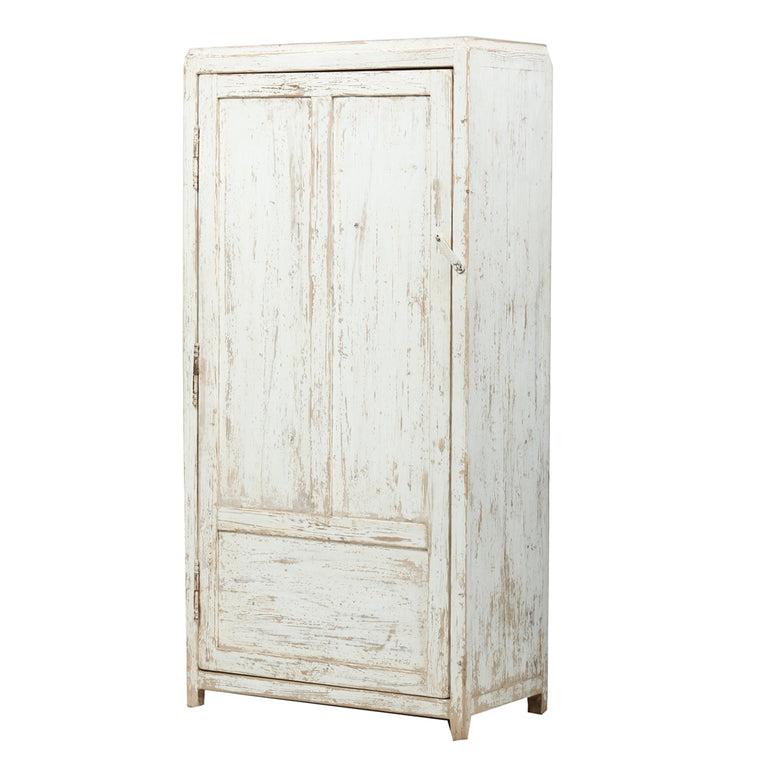 White Chinese Camphor Wood Cupboard Shandong Style