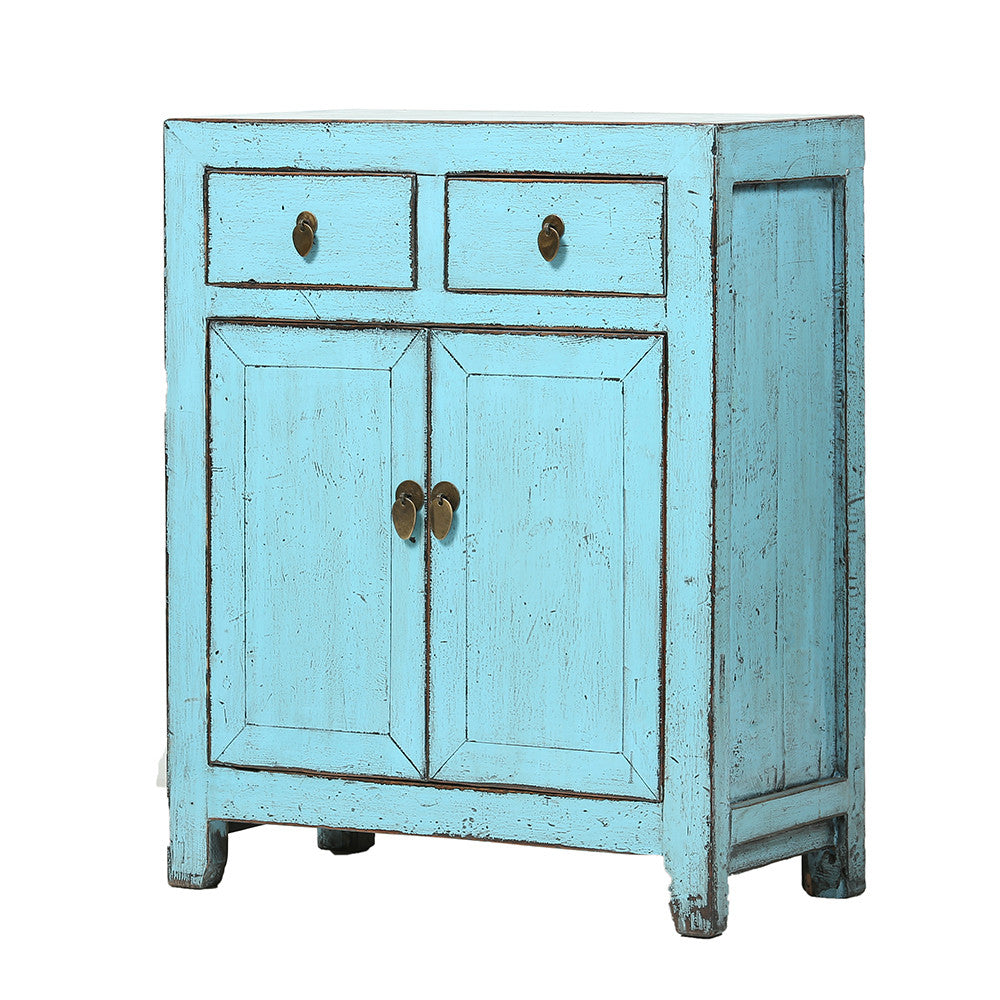 Blue Vintage Cabinet from Dongbei - Chinese homewares- Rouge Shop antique stores London - city furniture