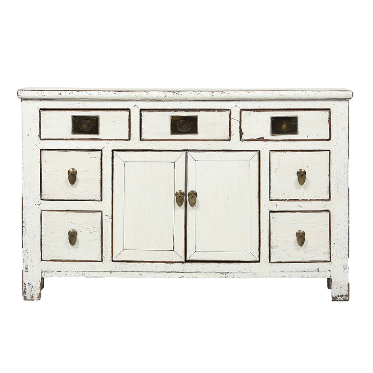 Vintage White Sideboard from Tianjin