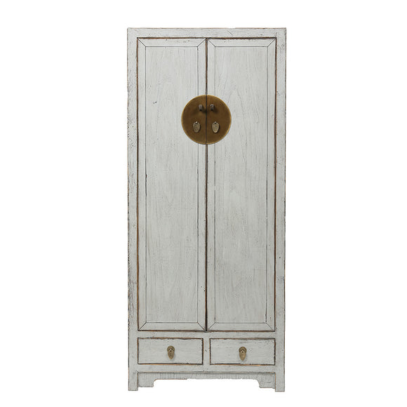 Contemporary Tall Grey Chinese Cabinet - Chinese homewares- Rouge Shop antique stores London - city furniture