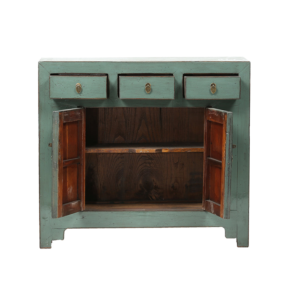 Green Vintage Cabinet from Shandong - Chinese homewares- Rouge Shop antique stores London - city furniture