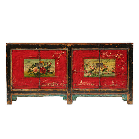 Vintage Sideboard from Gansu with Floral Motifs - Chinese homewares- Rouge Shop antique stores London - city furniture