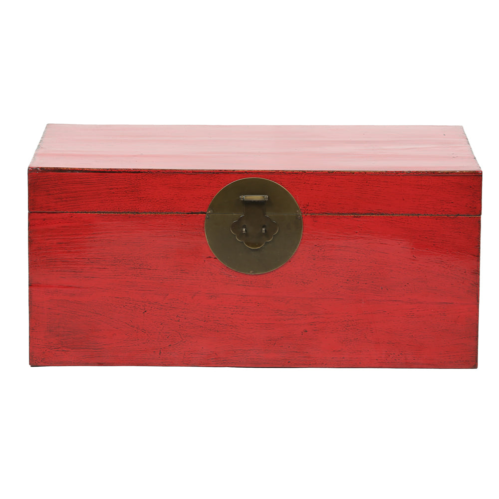 Vintage Red Chinese Chest from Gansu - Chinese homewares- Rouge Shop antique stores London - city furniture