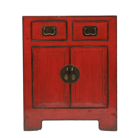 Red Vintage Cabinet from Shandong