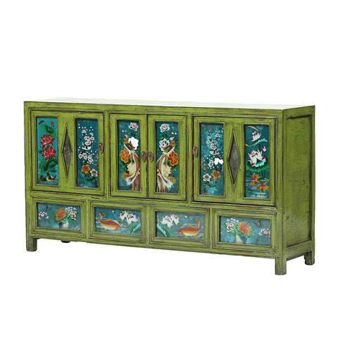 Tiled Vintage Chinese Sideboard from Dongbei