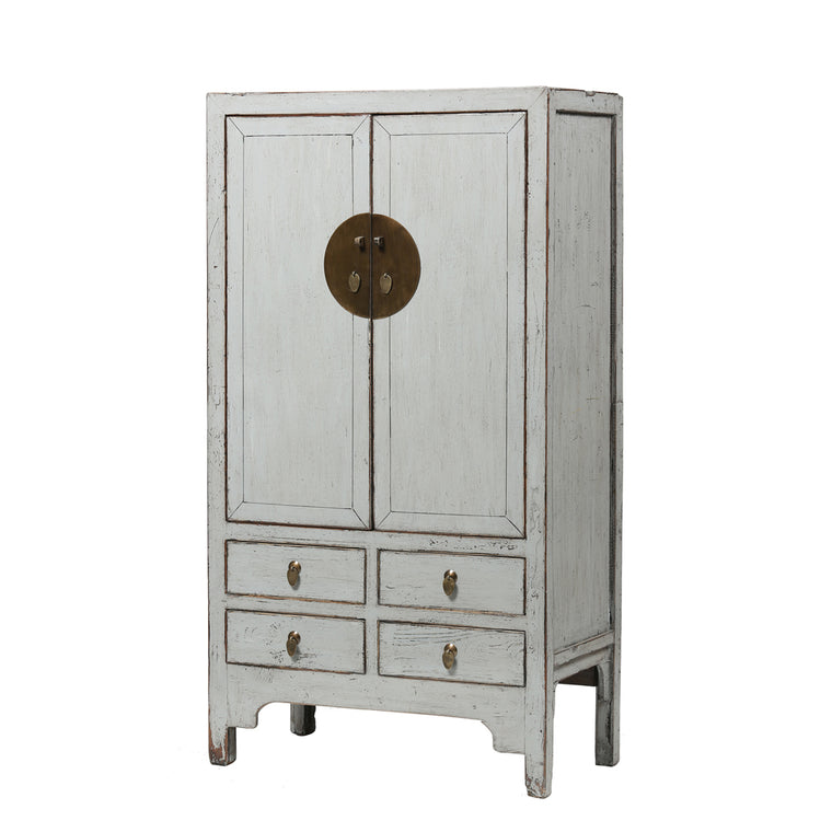 Grey Vintage Chinese Wardrobe from Shanxi - Chinese homewares- Rouge Shop antique stores London - city furniture