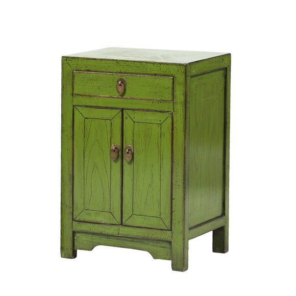 Green Chinese Bedside Cabinet - Chinese homewares- Rouge Shop antique stores London - city furniture