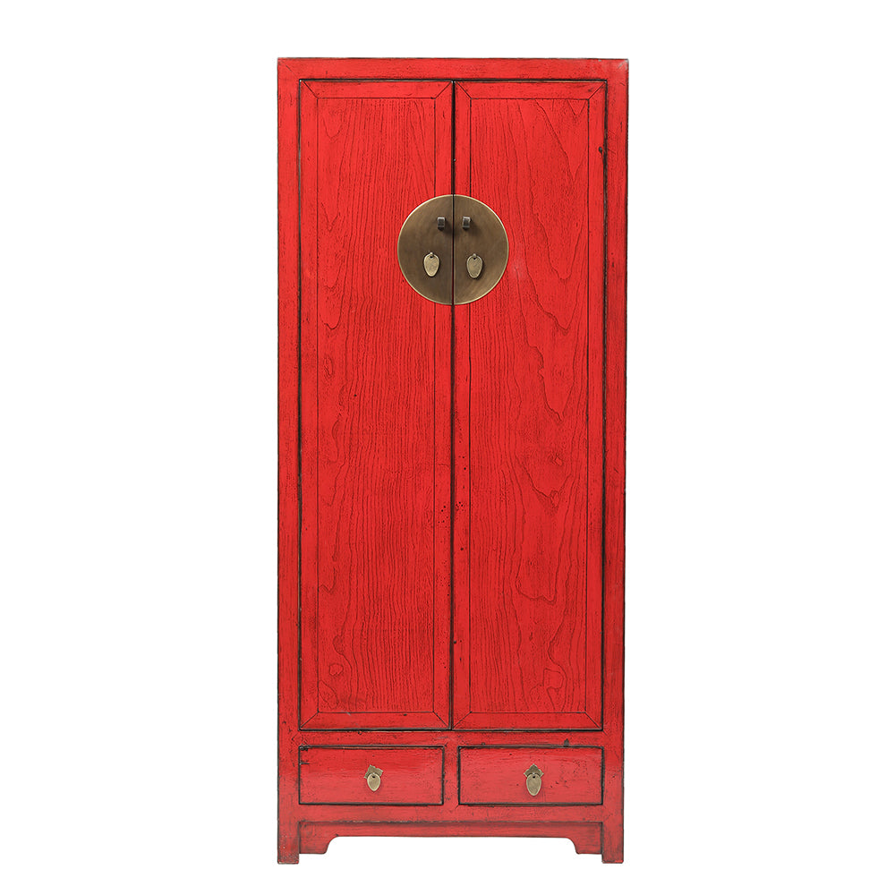 Contemporary Tall Red Shandong Style Cabinet - Chinese homewares- Rouge Shop antique stores London - city furniture