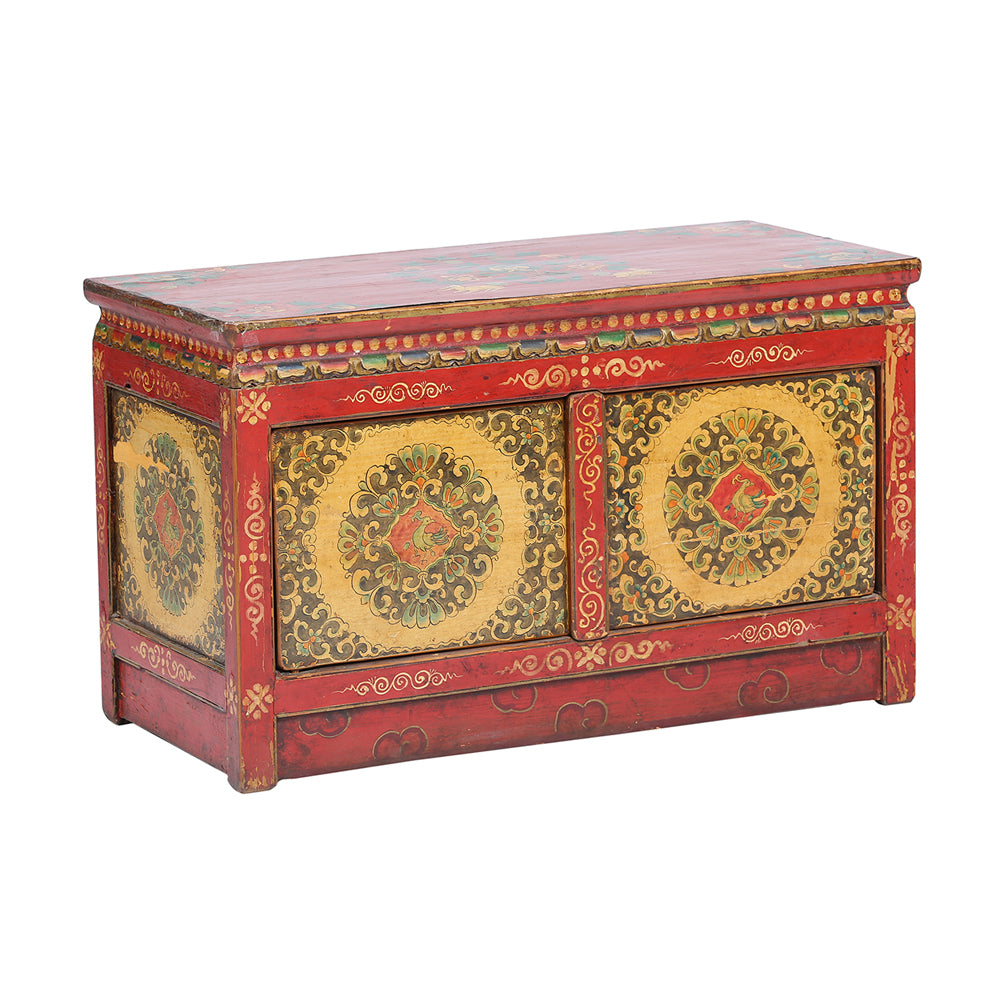 Vintage Red Cabinet from XiZang