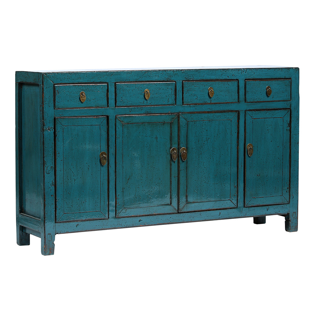 Blue Vintage Sideboard from Dongbei - Chinese homewares- Rouge Shop antique stores London - city furniture