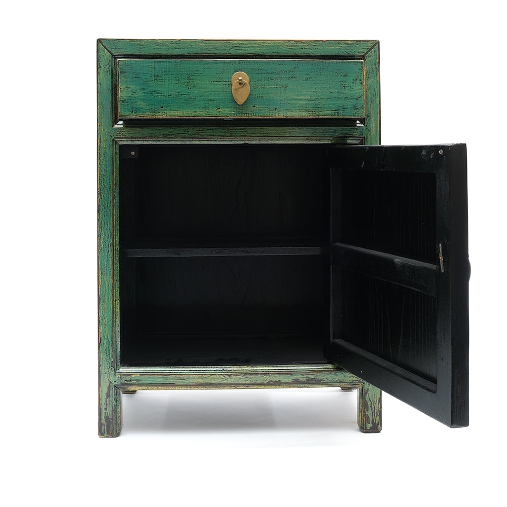 Green Chinese Cabinet - Chinese homewares- Rouge Shop antique stores London - city furniture