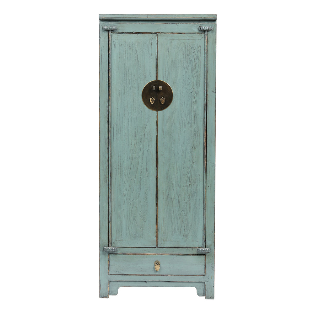 Tall Grey Chinese Cabinet - Chinese homewares- Rouge Shop antique stores London - city furniture