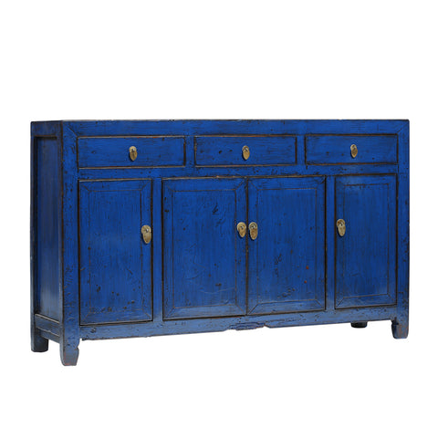 Vintage Blue Chinese Sideboard from Dongbei
