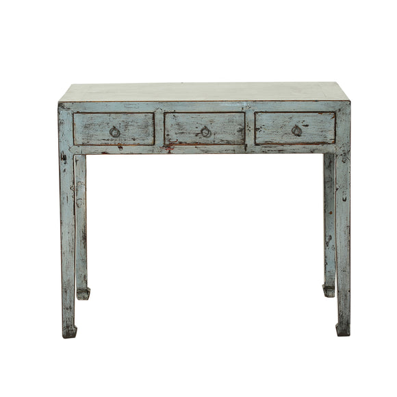 Steel Blue Vintage Chinese Desk from Shanxi
