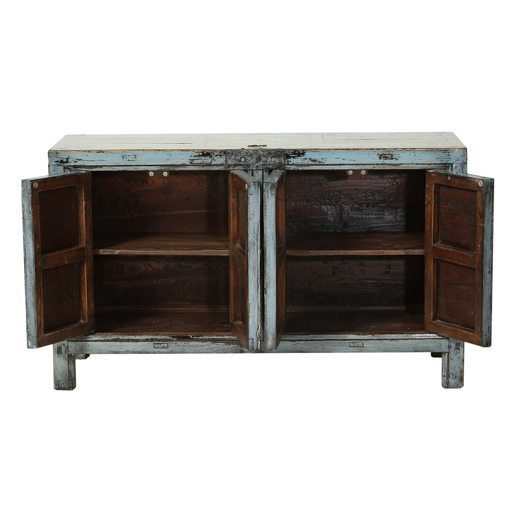 Steel Blue Vintage Sideboard from Gansu - Chinese homewares- Rouge Shop antique stores London - city furniture