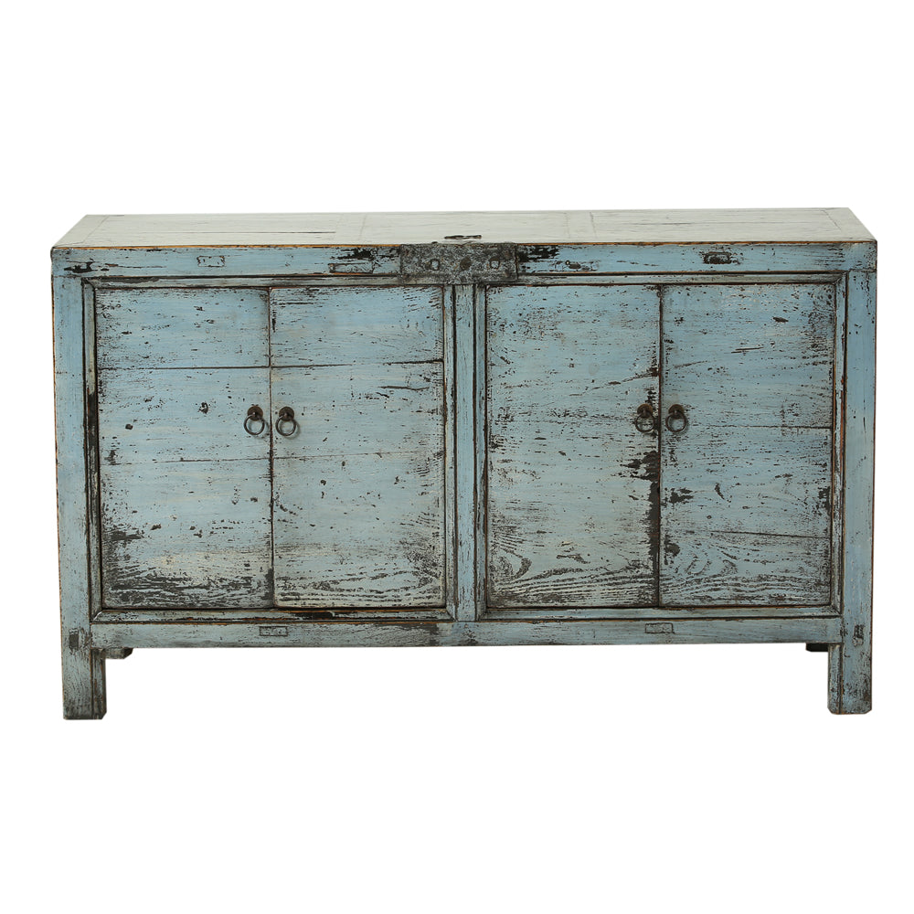 Steel Blue Vintage Sideboard from Gansu