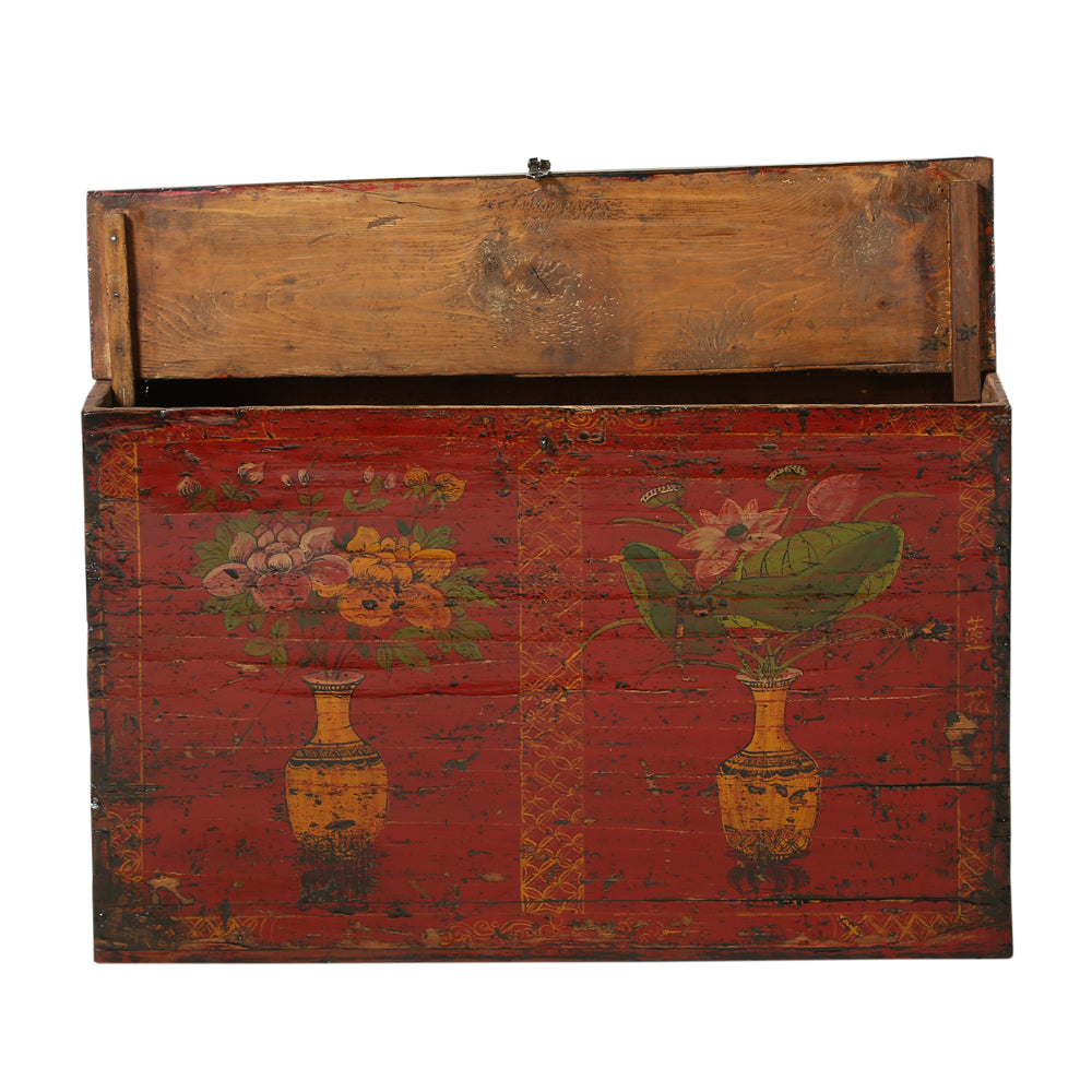 Vintage Red Trunk from Mongolian