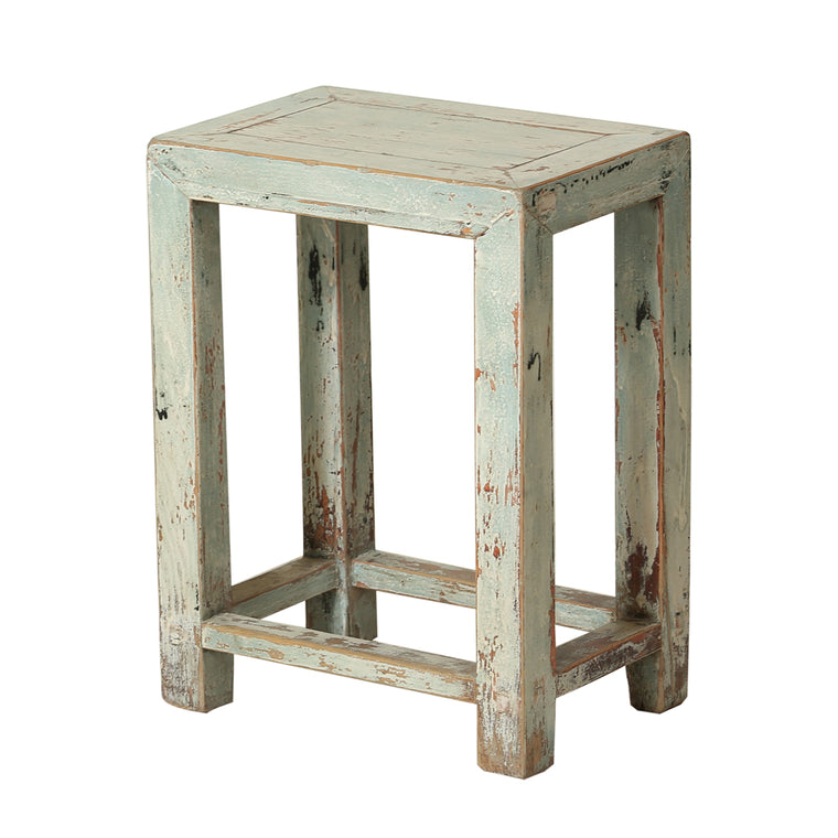 Vintage Chinese Elm Stool from Shanxi