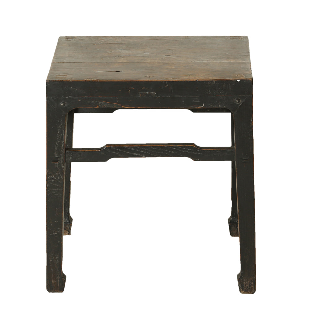 Vintage Chinese Elm Square Tea Table - Chinese homewares- Rouge Shop antique stores London - city furniture
