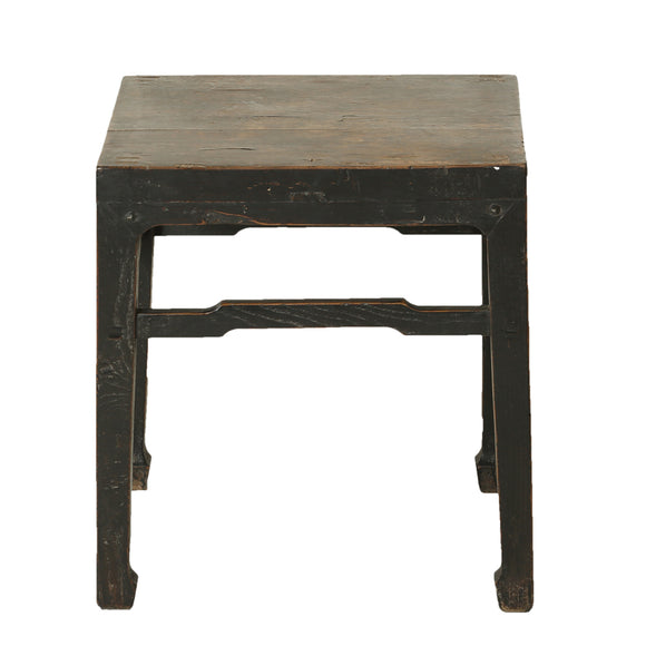 Vintage Chinese Elm Square Tea Table