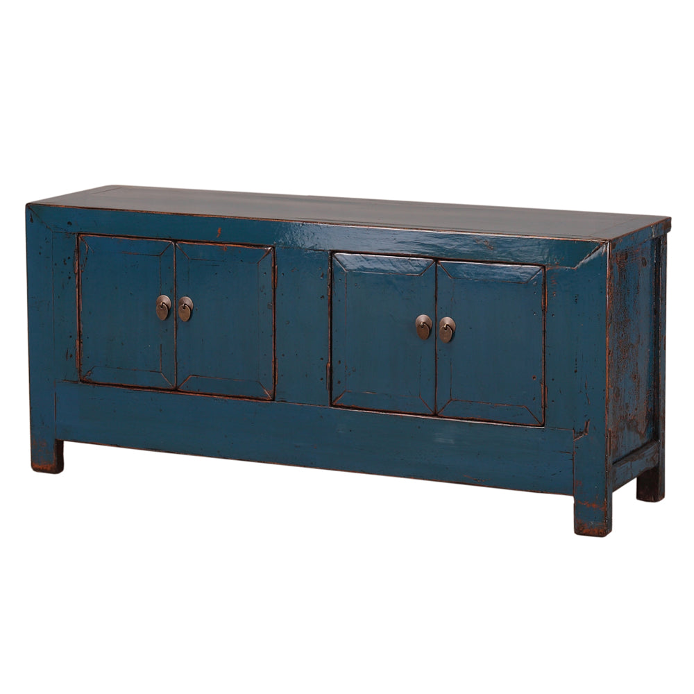 Low Blue Vintage Chinese Sideboard from Shanxi