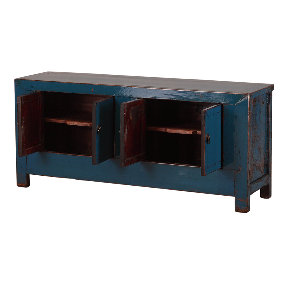 Low Blue Vintage Chinese Sideboard from Shanxi - Chinese homewares- Rouge Shop antique stores London - city furniture