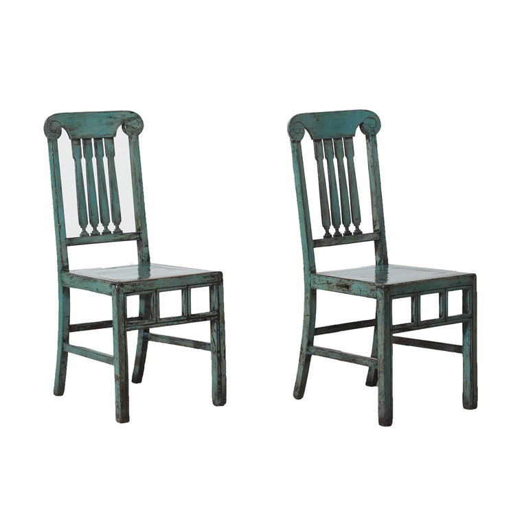 Pair of Vintage Chinese Pine Chairs from Beijing