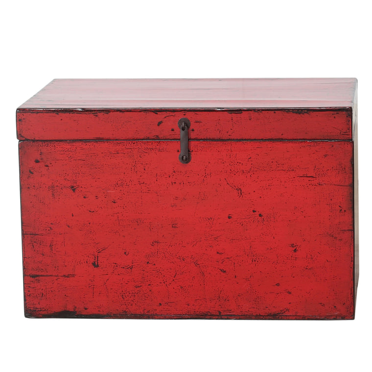 Vintage Red Chinese Chest from Dongbei