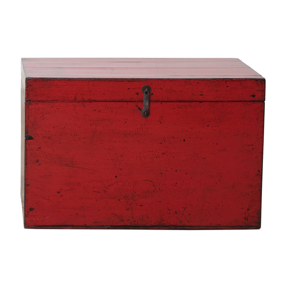 Vintage Red Chinese Chest from Dongbei - Chinese homewares- Rouge Shop antique stores London - city furniture