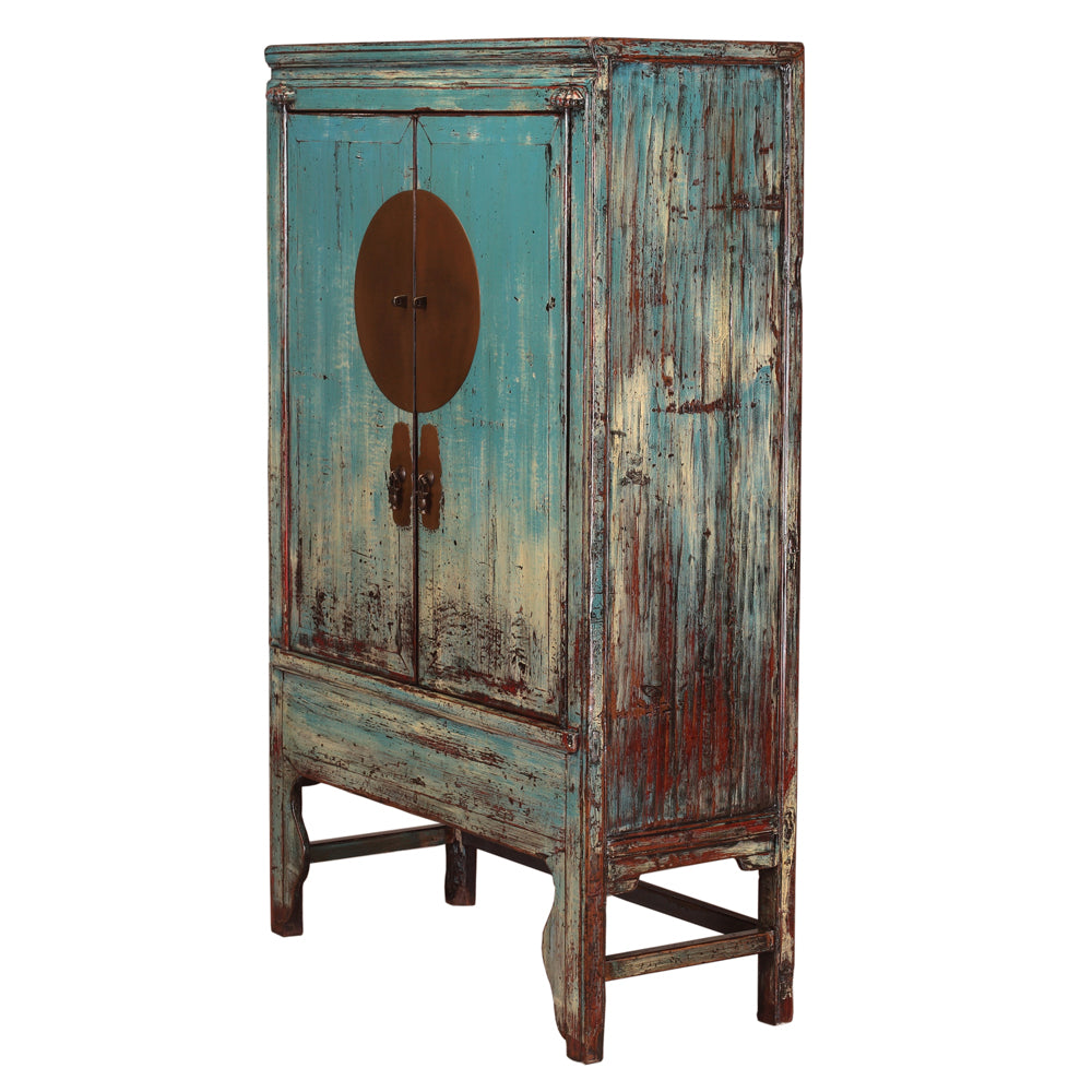 Vintage Aquamarine Chinese Wedding Cabinet from Shanghai