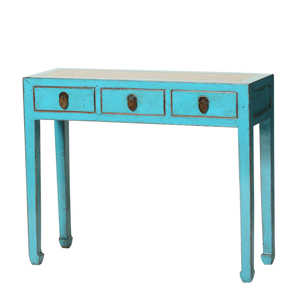 Chinese Desk in Light Blue - Chinese homewares- Rouge Shop antique stores London - city furniture