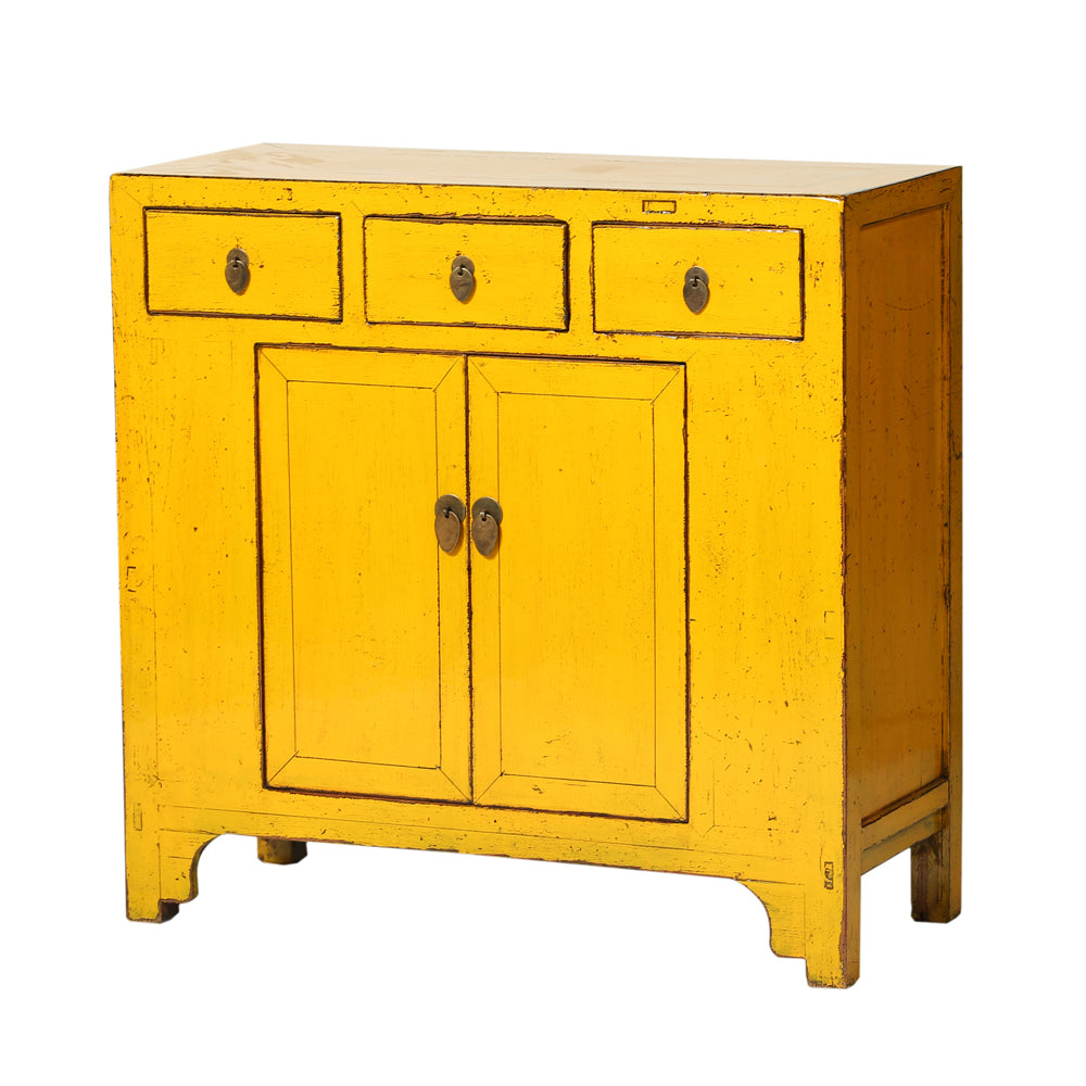 Vintage Chinese Three-Drawer Two-Door Cabinet from Shandong - Chinese homewares- Rouge Shop antique stores London - city furniture