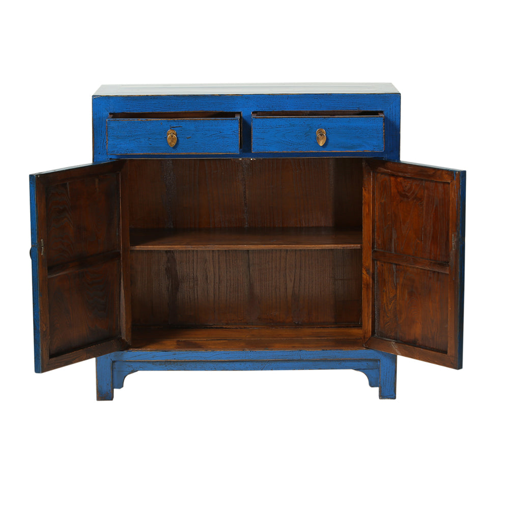 Vintage Dark Blue Cabinet from Dongbei