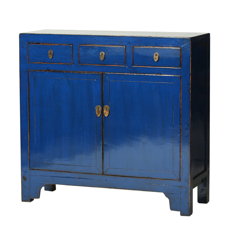 Vintage Dark Blue Cabinet from Shandong - Chinese homewares- Rouge Shop antique stores London - city furniture