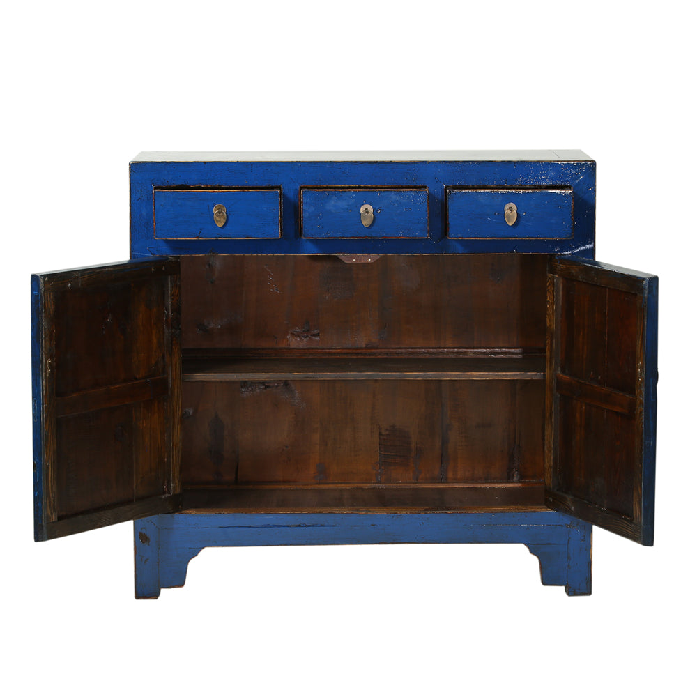 Vintage Dark Blue Cabinet from Shandong