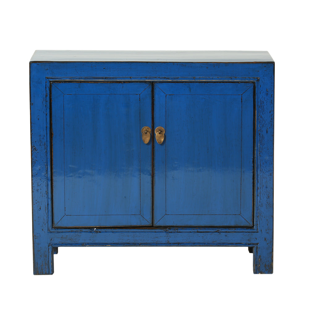 Vintage Chinese Blue Cabinet from Gansu - Chinese homewares- Rouge Shop antique stores London - city furniture