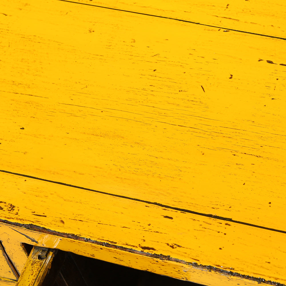 Low Vintage Yellow Chinese Sideboard
