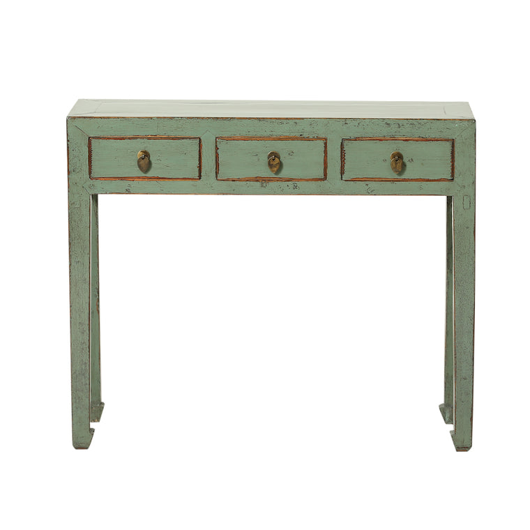 Chinese Desk in Green - Chinese homewares- Rouge Shop antique stores London - city furniture