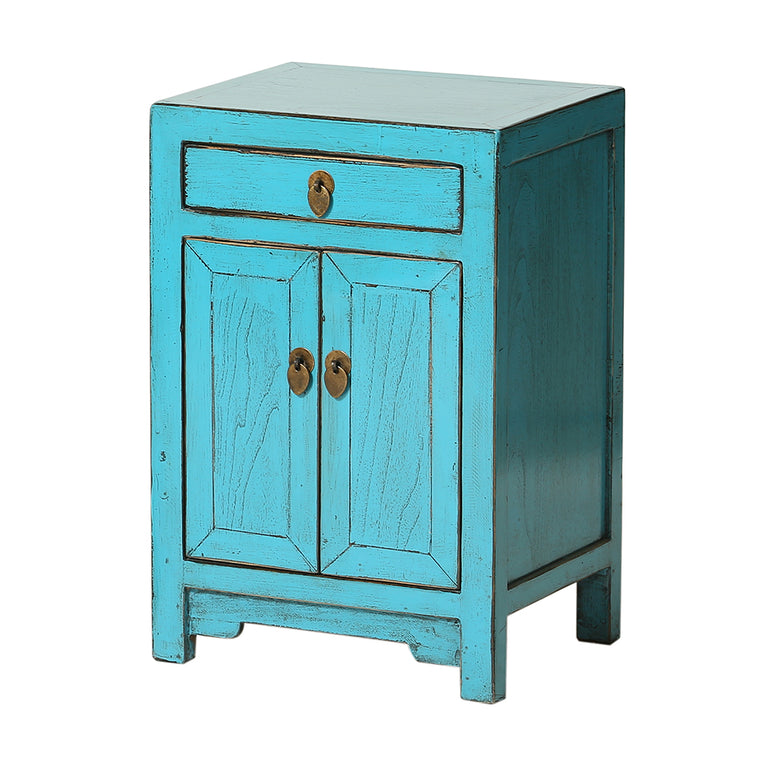 Blue Chinese Bedside Cabinet Shandong Style   Chinese Homewares  Rouge Shop  Antique Stores London ...